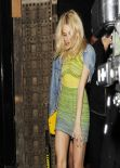Pixie Lott Night Out Style - Steam & Rye Restaurant in London - March 2014