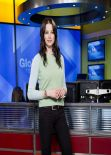 Rachel Nichols Cute Pics - The Morning Show in Toronto, March 2014