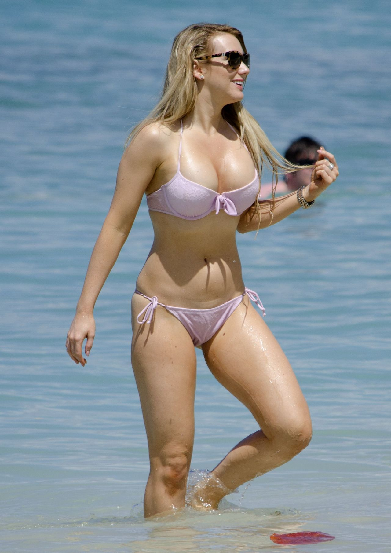 Rebecca Ferdinando In A Bikini Barbados February 2014