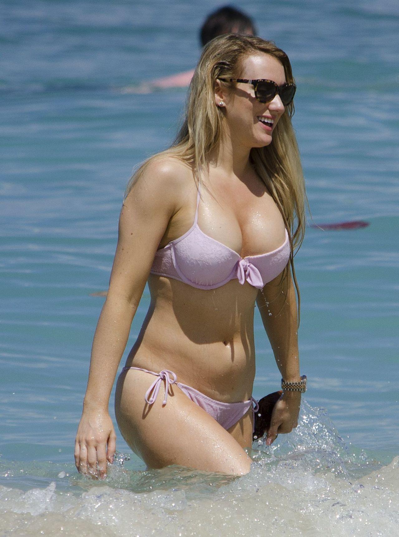 Rebecca Ferdinando In A Bikini Barbados February 2014