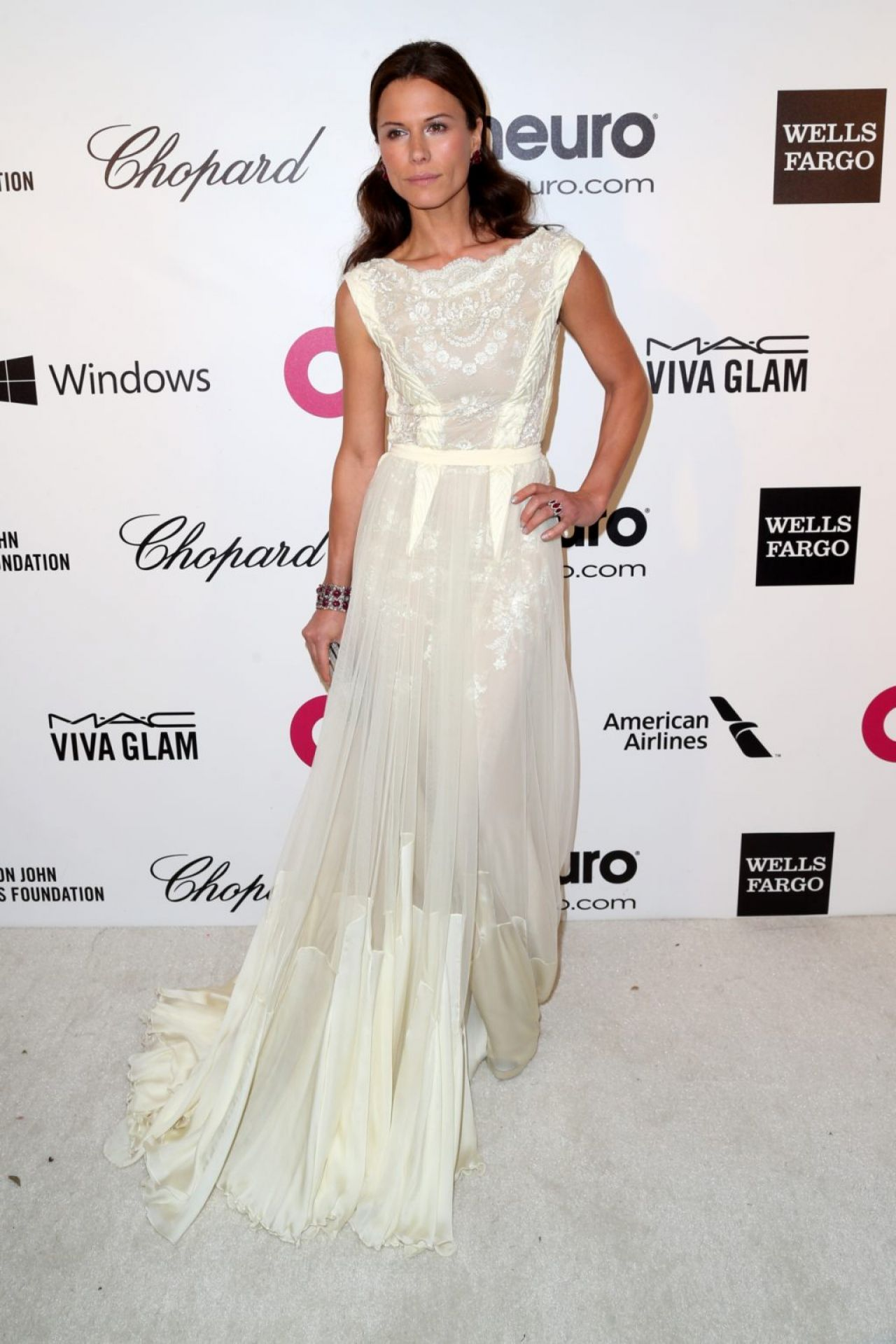 Rhona Mitra - 2014 Elton John Oscar Party