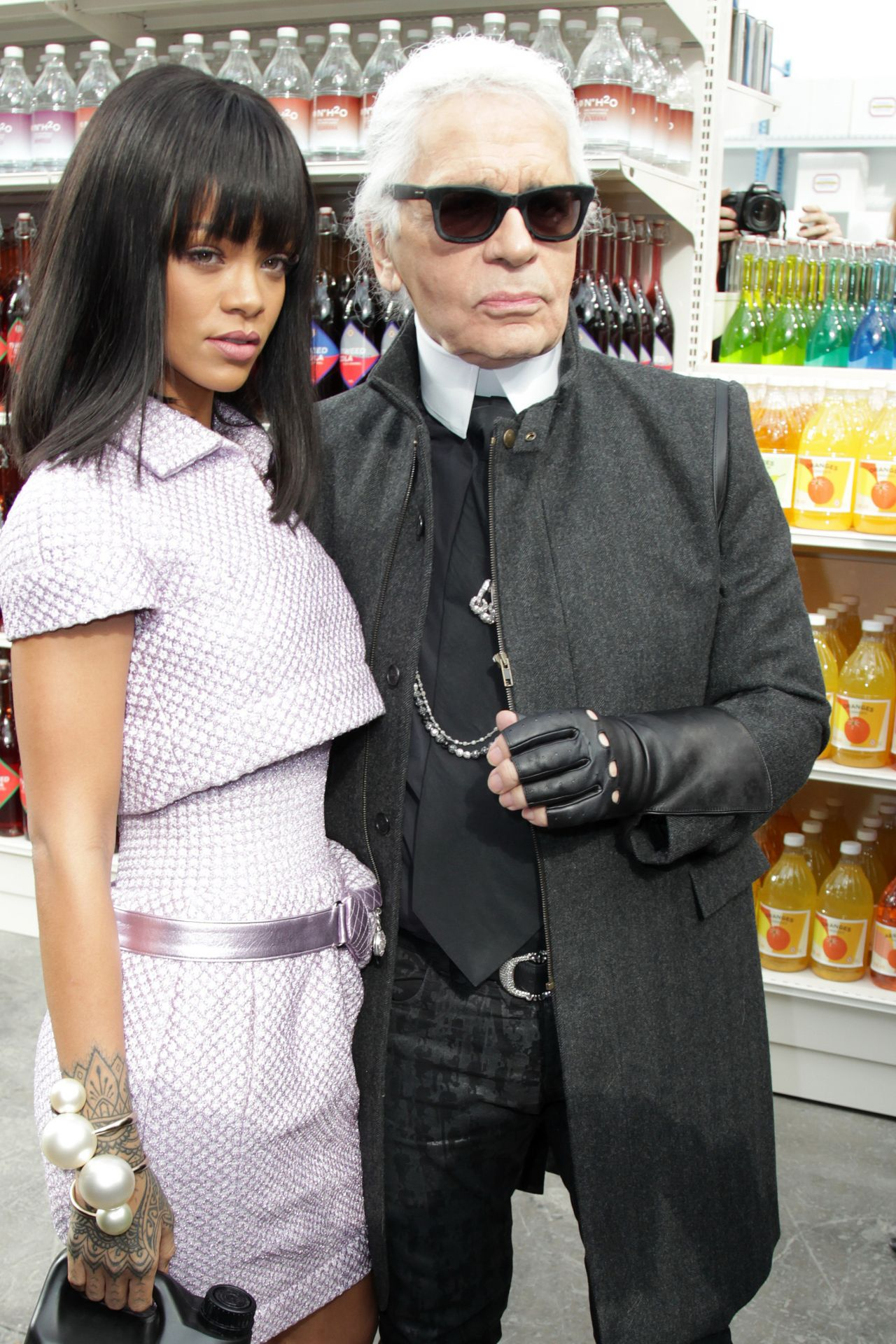 Rihanna and Karl Lagerfeld in Paris - Chanel F/W Fashion Show - March 2014