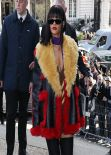 Rihanna in Paris - Miu Miu F/W Fashion Show - March 2014