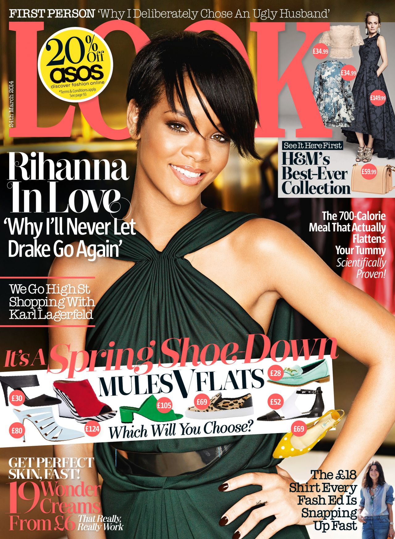 Rihanna - Look Magazine (UK) - March 24th, 2014 Issue