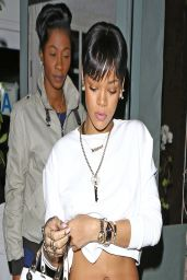 Rihanna Night Out Style - Giorgio Baldi Restaurant in Los Angeles - March 2014