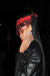 Rihanna Night Out Style - Tramp Club in London - March 2014