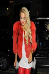Rita Ora Night Out Style - Hading for the Topshop Party in London
