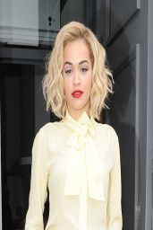Rita Ora Promoting Her New Single - Outside Kiss FM In London