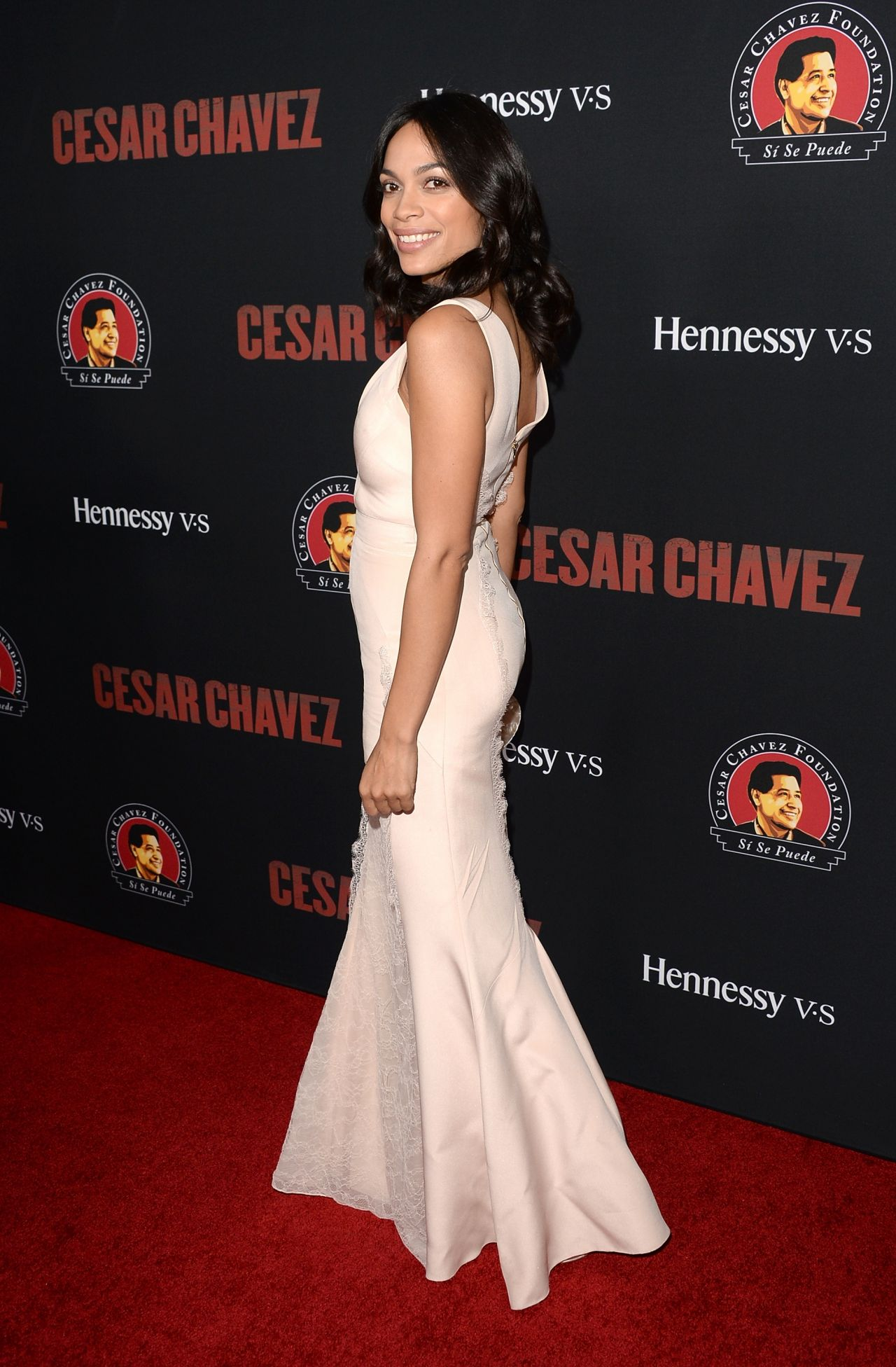 Rosario Dawson on Red Carpet - Cesar Chavez Premiere in Hollywood