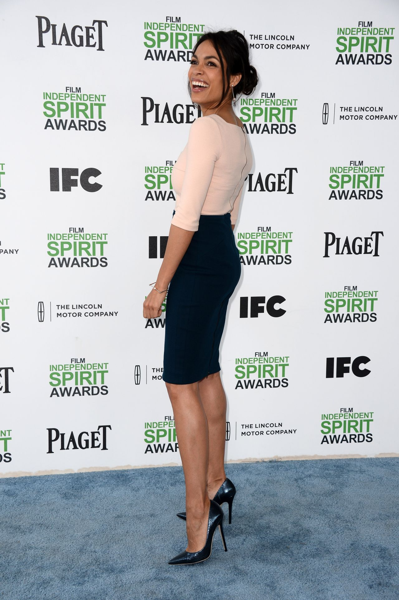 Rosario Dawson Wearing Narciso Rodriguez 2014 Film