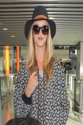 Rose Huntington-Whiteley - at Heathrow Airport - London, March 2014