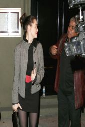 Rose McGowan Night Out Style - Craigs Restaurant in Los Angeles - March 2014