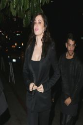 Rose McGowan Night out Style - Leaving Chateau Marmont in LA - March 2014