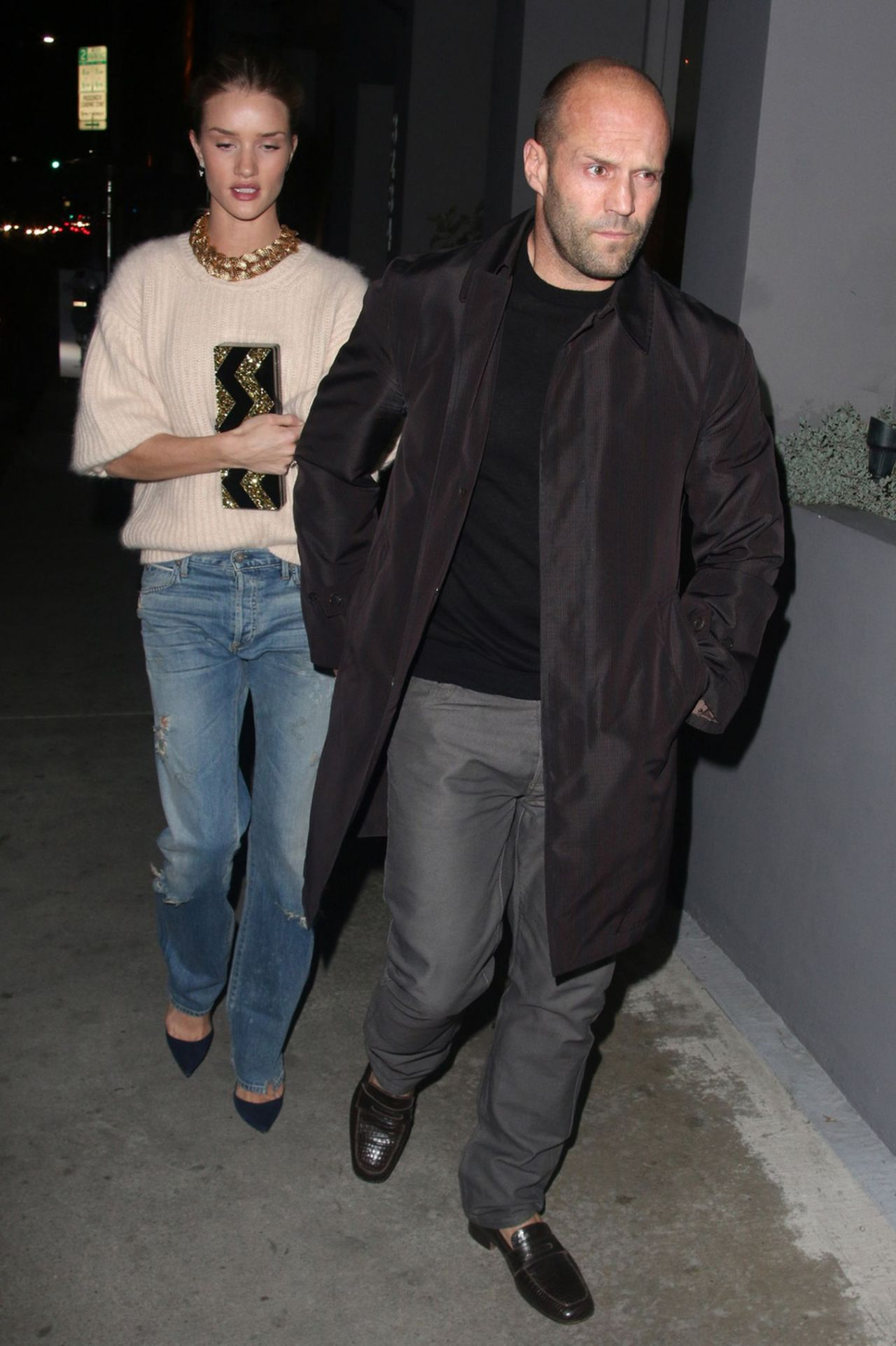 Rosie Huntington-Whiteley and Jason Statham at Crossroads Reataurant in West Hollywood
