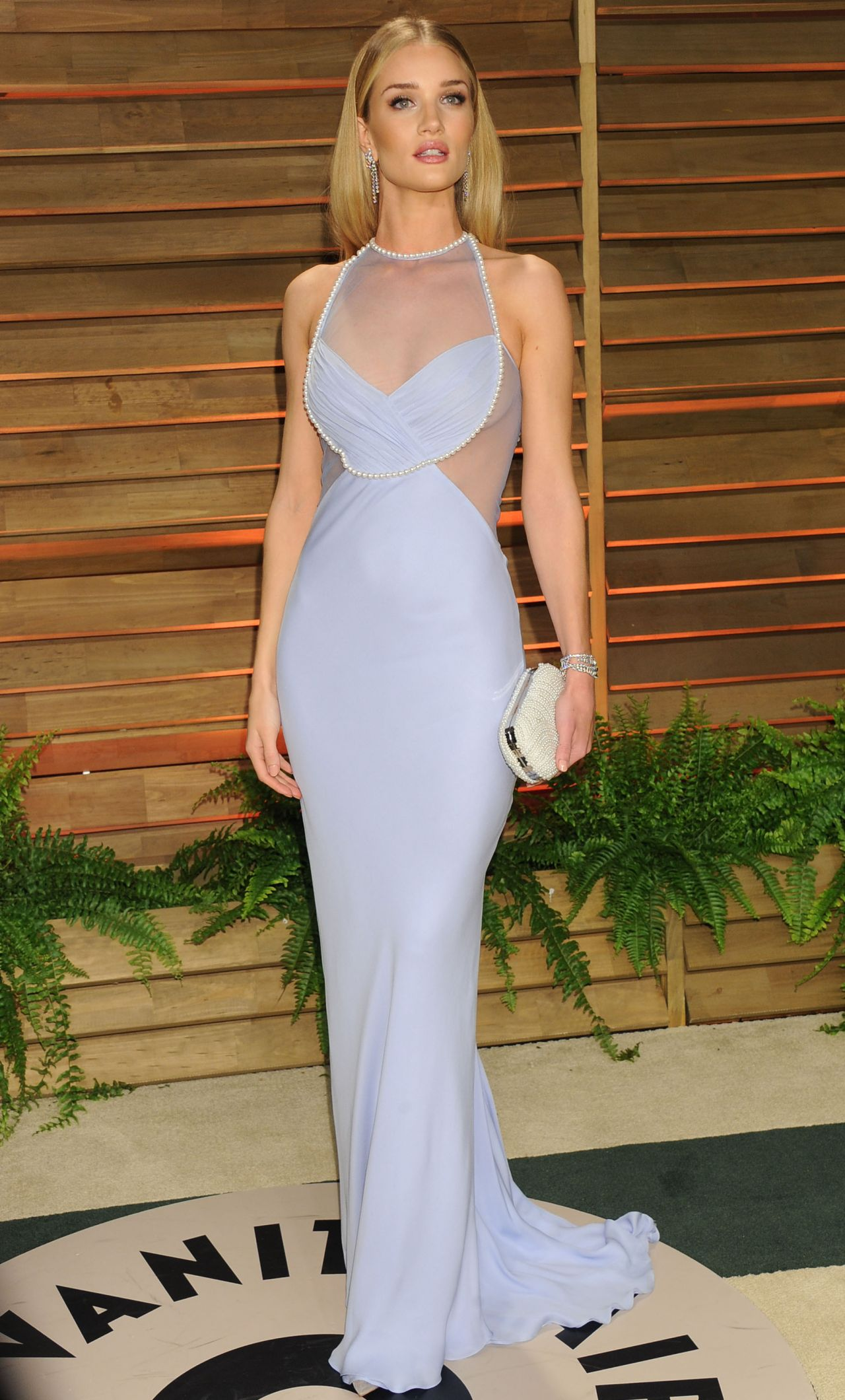 RosRosie Huntington- Whiteley Wearing Cushnie et Ochs Gown - 2014 Vanity Fair Oscar Party