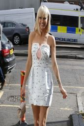 Sarah Harding - Leaving the ITV Studios in London - March 2014