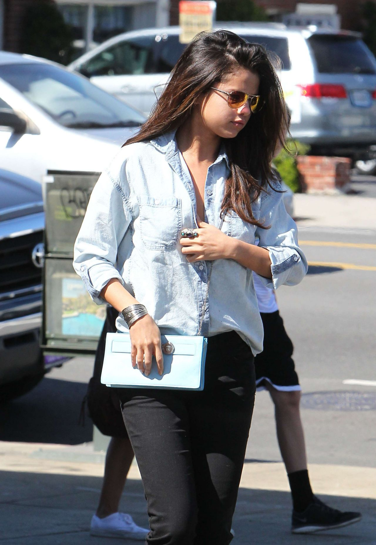 selena gomez casual style leaving kabuki restaurant in