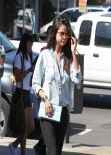 Selena Gomez Casual Style - Leaving Kabuki Restaurant in North Hollywood, March 2014