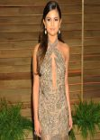 Selena Gomez Wearing Emilio Pucci Gown at 2014 Vanity Fair Oscar Party in Hollywood