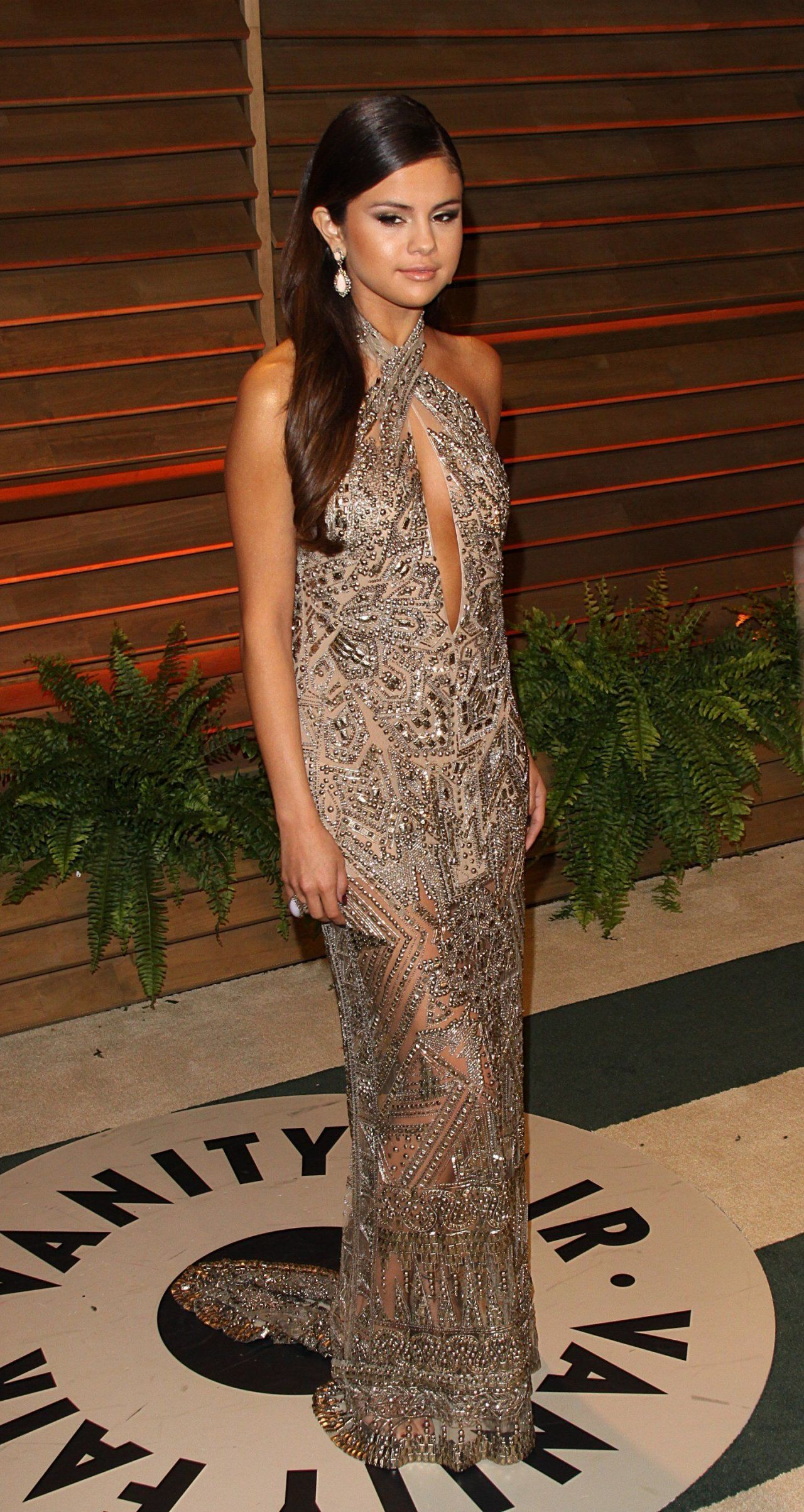 Selena Gomez Wearing Emilio Pucci Gown at 2014 Vanity Fair