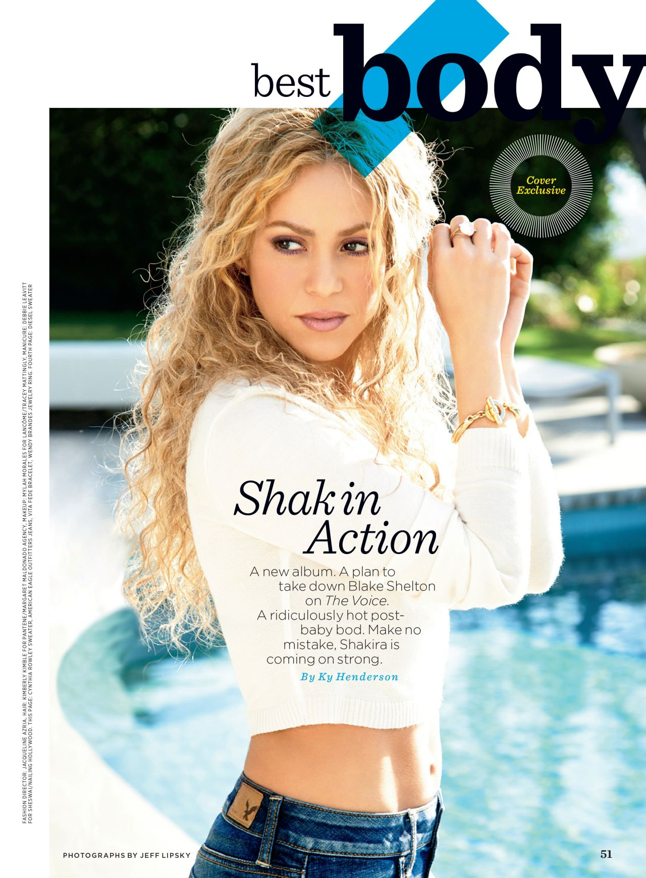 Shakira Women S Health Magazine April 2014 Issue