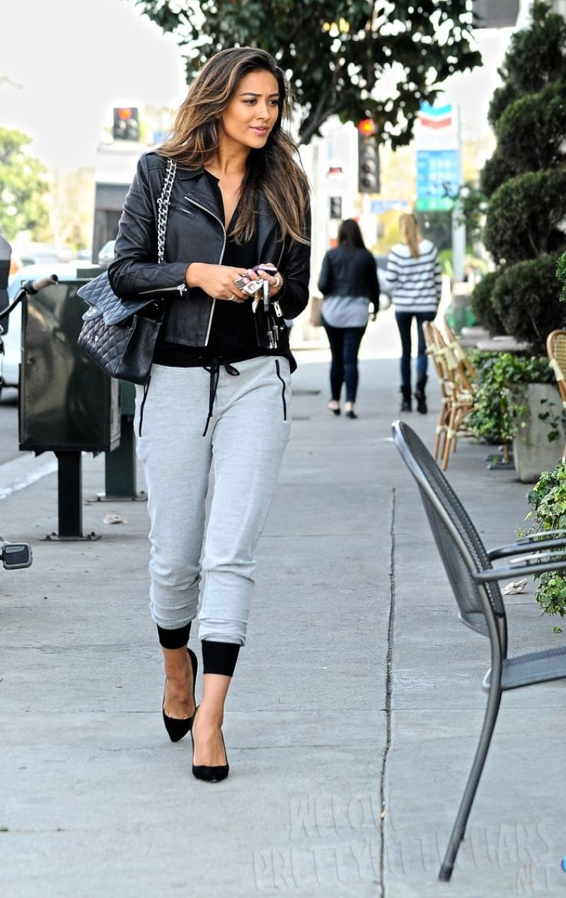 Shay Mitchell Casual Street Style Out For Lunch With Friends March 2014