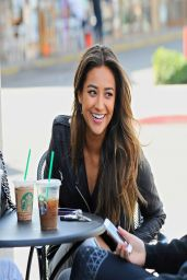 Shay Mitchell Casual Street Style - Out for Lunch With Friends - March 2014