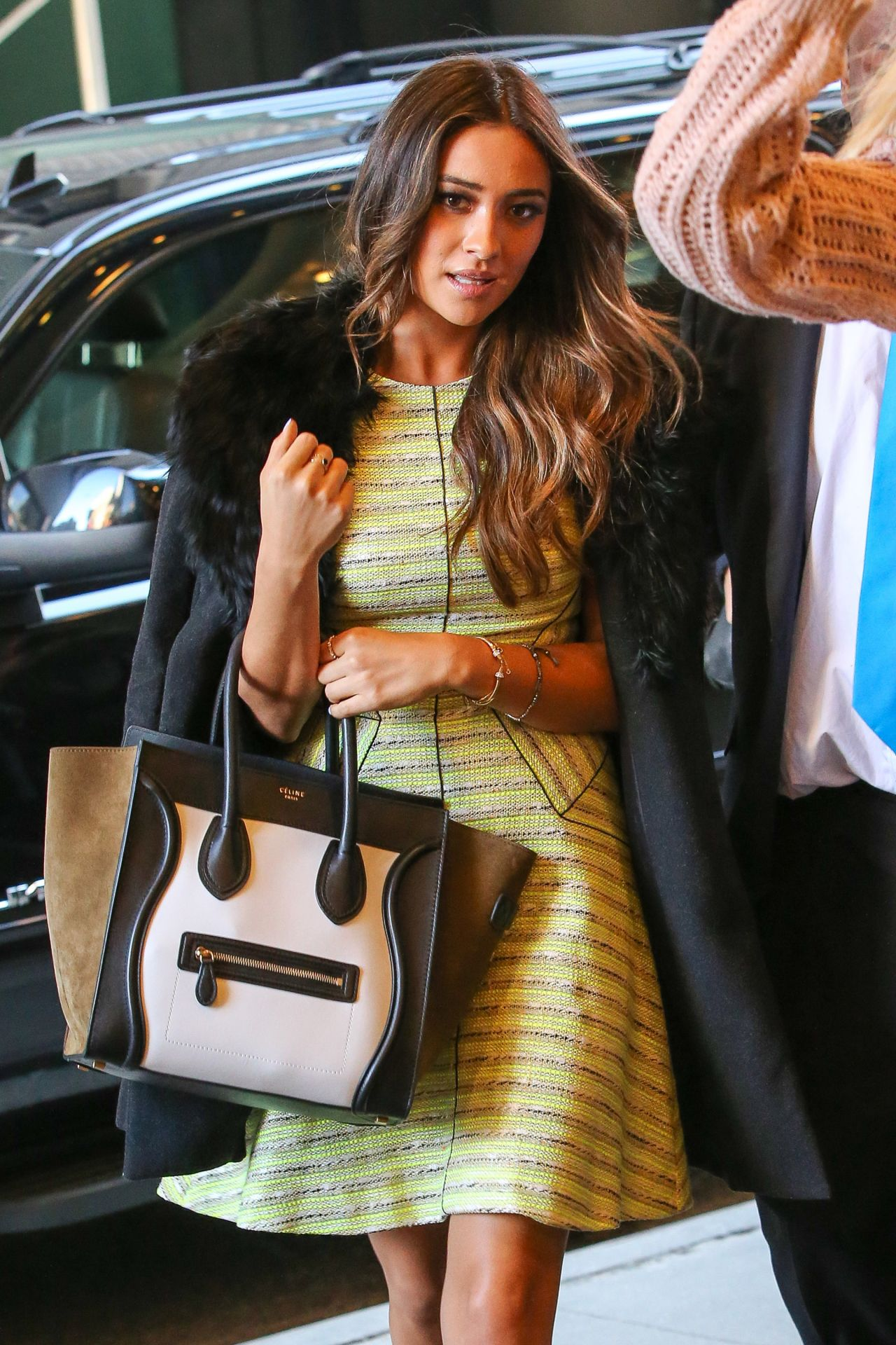 Shay Mitchell in New York City - Arriving at the MTV Studios