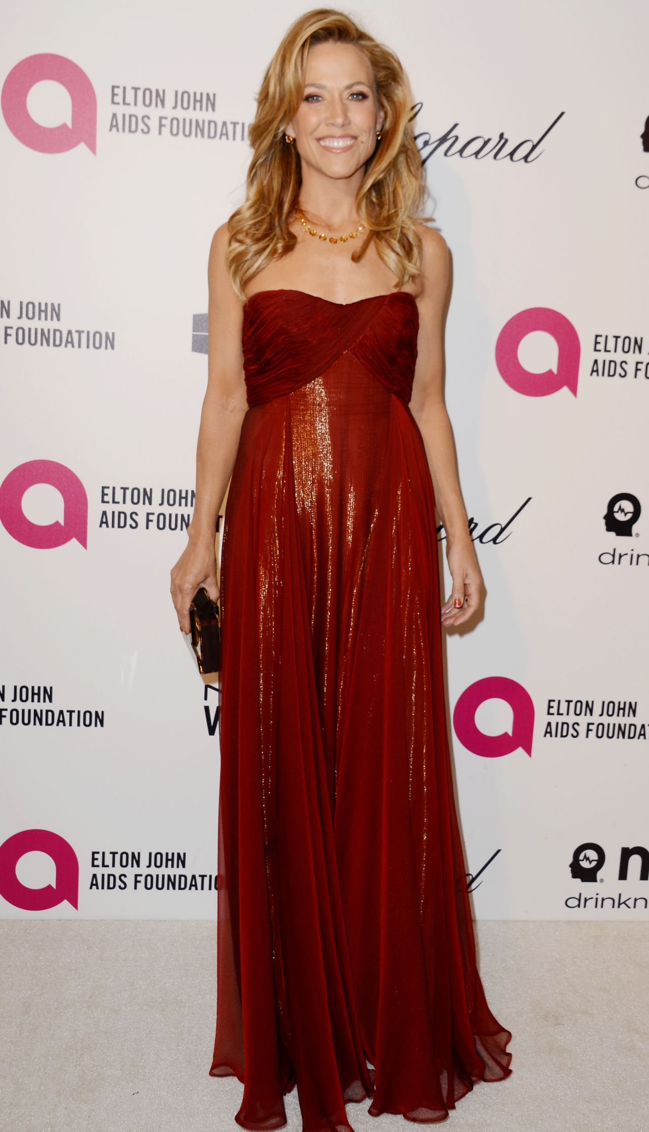 Sheryl Crow Wearing Roberto Cavalli Gown - 2014 Elton John Oscar Party