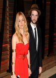 Sienna Miller in Red Gown - 2014 Vanity Fair Oscar Party