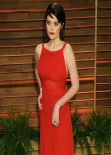 Sky Ferreira in Red Gown - 2014 Vanity Fair Oscar Party