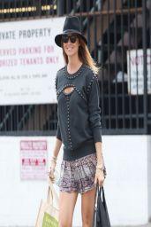 Stacy Keibler in Mini Skirt - Shopping in LA - March 2014
