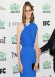 Stana Katic Wearing Yigal Azrouël Dress - 2014 Film Independent Spirit Awards in Santa Monica