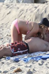 Stephanie Mcintosh Bikini Candids - At the Beach in Los Angeles, March 2014