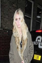 Taylor Momsen Night Out Style - at the Black Heart Bar in London