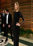 Taylor Swift in Black Sequin Julien Macdonald Floor-Length Gown - 2014 Vanity Fair Oscar Party in Hollywood