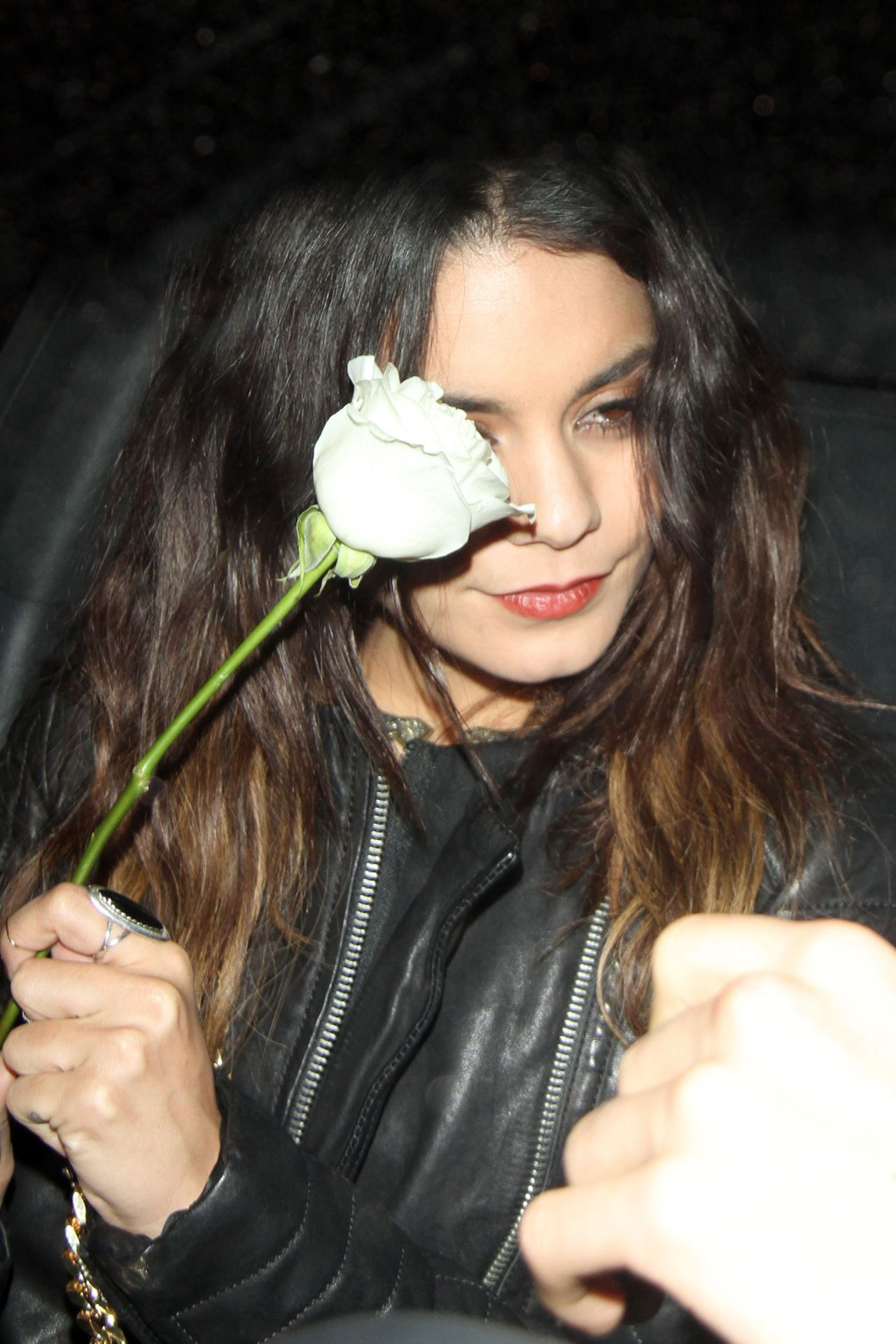 Vanessa Hudgens Carries a White Rose - Laura Vandervoort