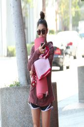 Vanessa Hudgens - Going to Yoga Class in Studio City - March 2014