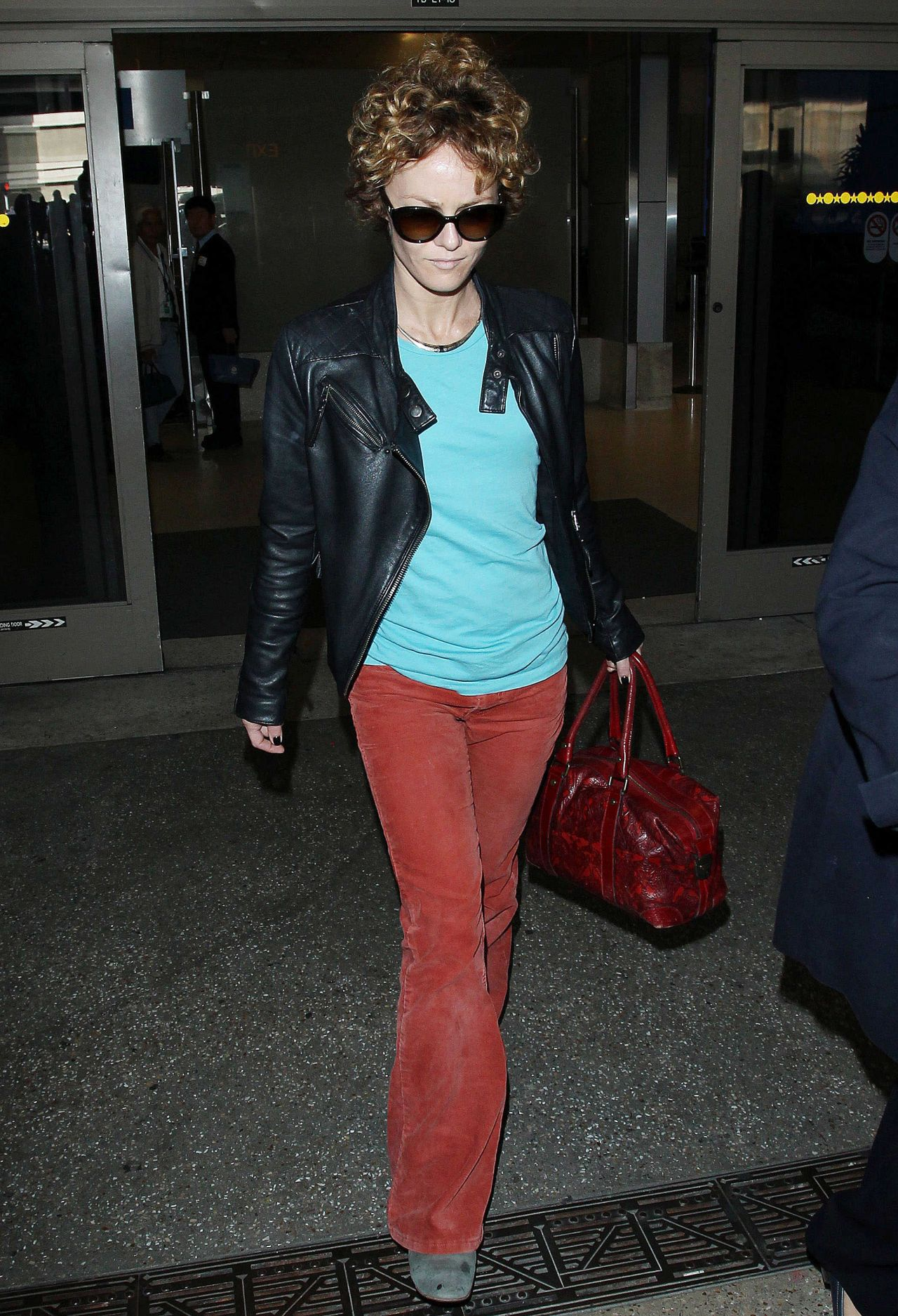 Vanessa Paradis At LAX Airport in Los Angeles, March 2014