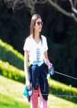 Victoria Justice in Track Suit - Walking Her Dogs, March 2014