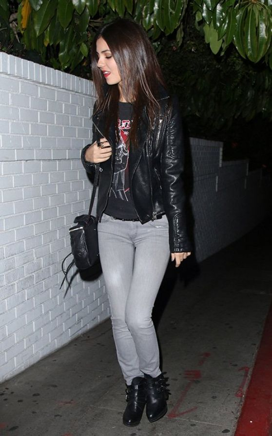 Victoria Justice Night Out Style - Leaving the Chateau Marmont in Los Angeles, March 2014
