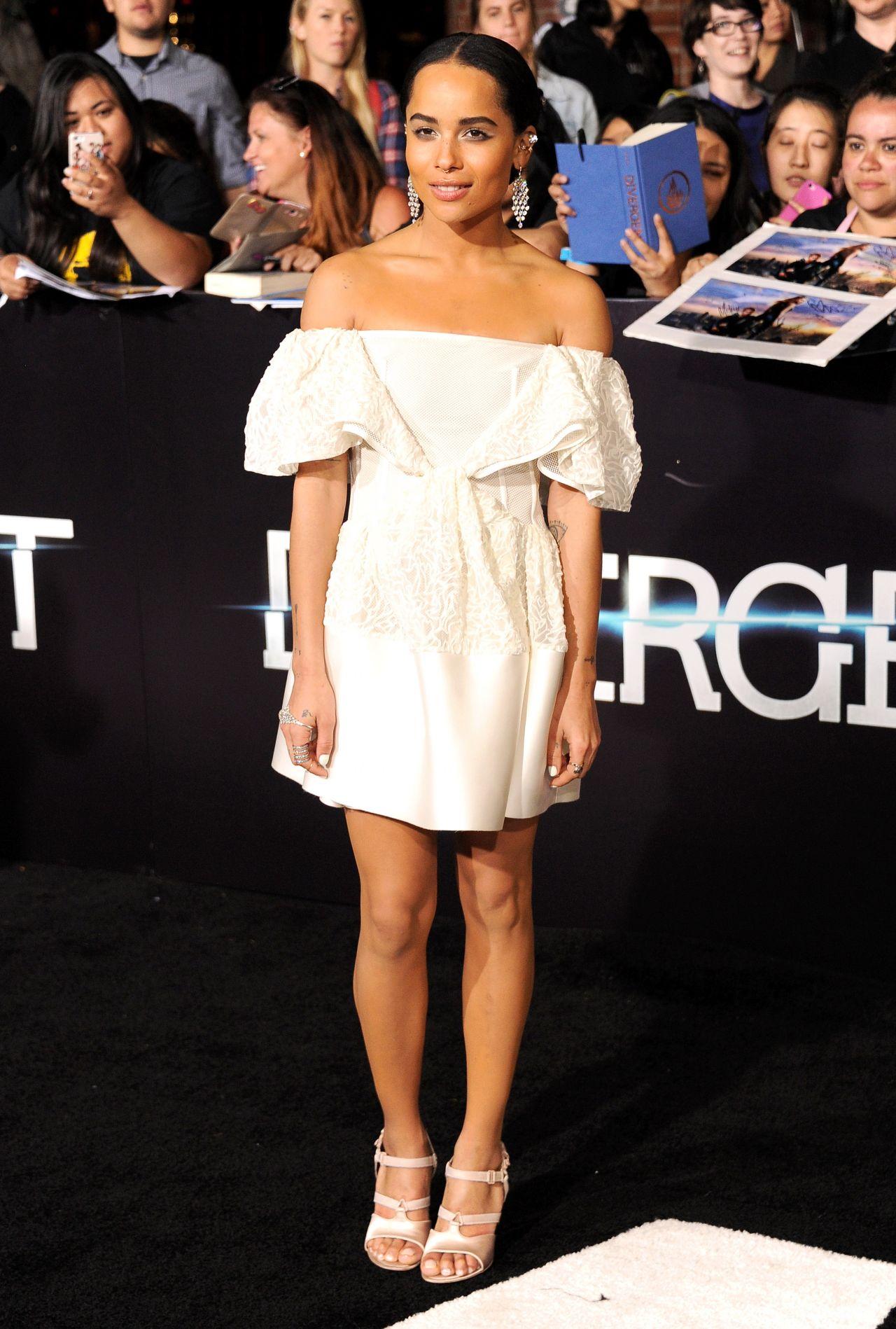 Zoe Kravitz Wearing Balenciaga White Mini Dress At