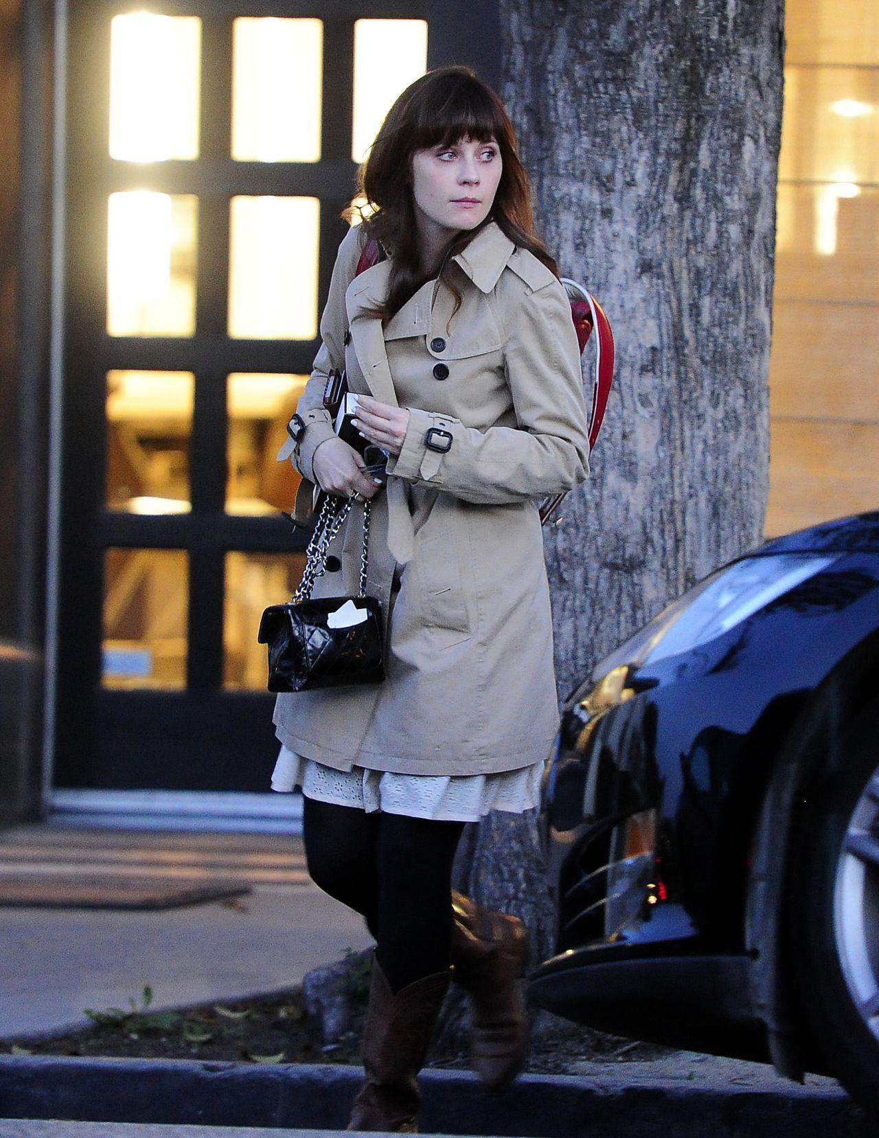 Zooey Deschanel Leaving Hair Salon in Beverly Hills, March 2014