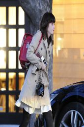 Zooey Deschanel Leaving Hair Salon in Beverly Hills, March 2014