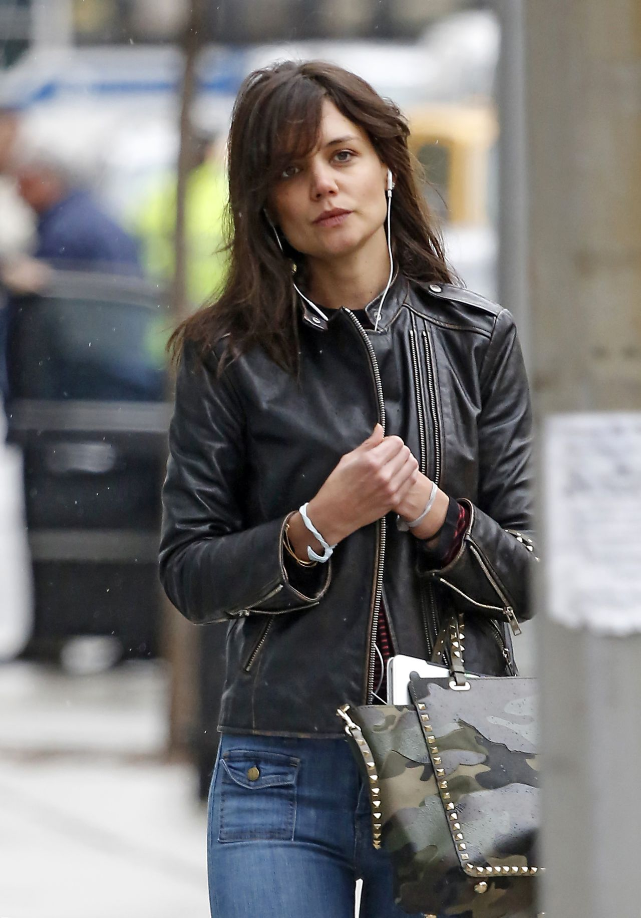 Katie Holmes Street Style Out In New York City April 2014