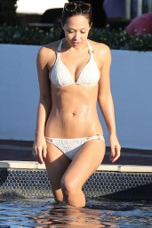 Myleene Klass in a Bikini by the Pool in Cape Town - South Africa, March 2014