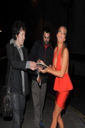 Aisleyne Horgan Night Out Style - Leaving the Playboy Club London - April 2014