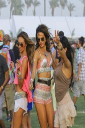 Alessandra Ambrosio at Coachella With a Friend in Los Angeles – April 2014