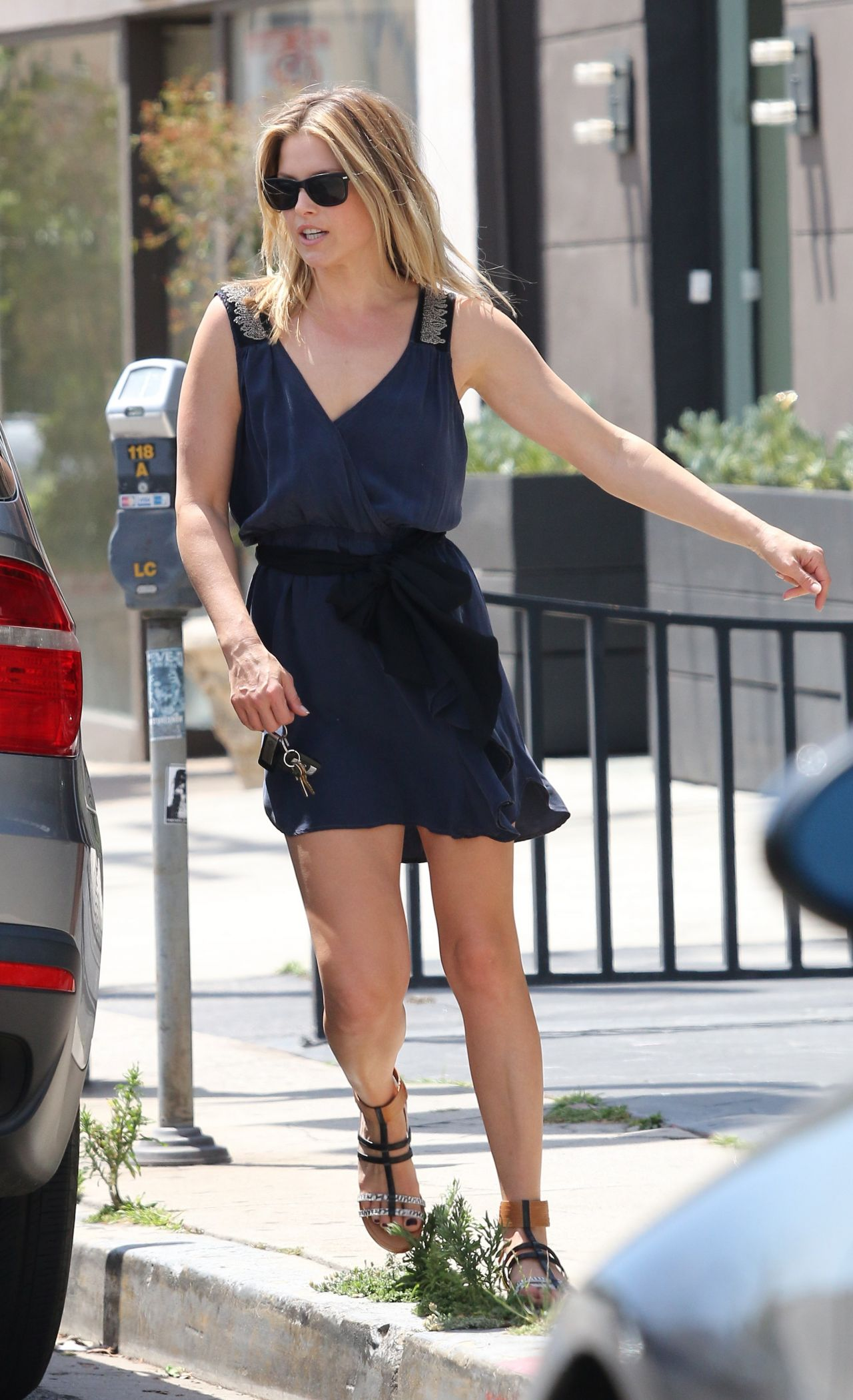 Ali Larter Shows Legs in Mini Dress - Out in Los Angeles - April 2014