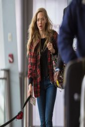 Amanda Seyfried in Jeans at JFK Airport in NYC - April 2014